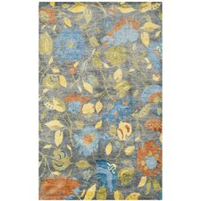 Tibetan Hand-Knotted Blue/Multi-Colored Area Rug
