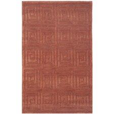Tibetan Greek Key Rust Area Rug