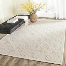 Tibetan Hand-Knotted Pearl Area Rug