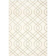 Tibetan White Geometric Rug
