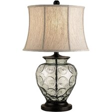 """Vetro 25"""" H Table Lamp with Oval Shade"""