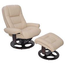 Jacque Pedestal Chair and Ottoman