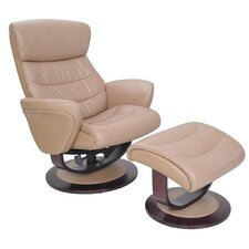Tetra Pedestal Chair and Ottoman