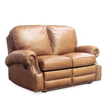 Longhorn Leather Reclining Loveseat