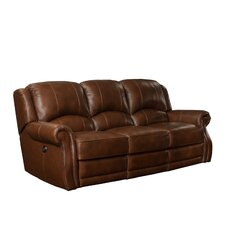 Cedar Hill Casual Comforts Power Leather Recliner Sofa