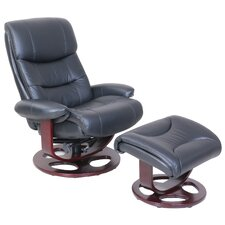 Pedestal Dawson Ped Recliner and Ottoman