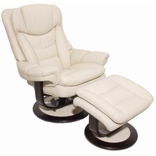 Pedestal Roscoe Ped Recliner and Ottoman