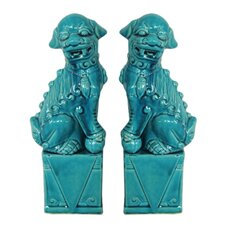 Fabulous Styled Foo Dog Figurine (Set of 2)