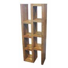 "Appealing Wooden 59.25"" Cube Unit Bookcase"