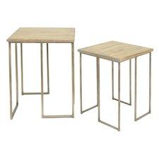 2 Piece End Table Set