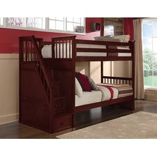 School House Twin over Twin Stair Bunk