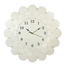 "Fleur 22"" Glass Clock"