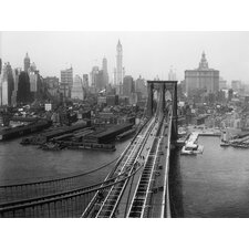 """NYC Brooklyn Bridge Retro"" Photographic Print"