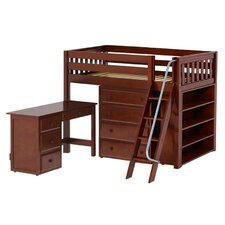 Katching3 Low Loft Bed with Storage