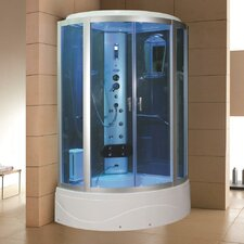 "42"" x 42"" x 86.2"" Sliding Door Steam Shower Enclosure Unit"