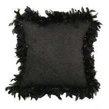 Alexander Les Plumes Feather Trim Throw Pillow