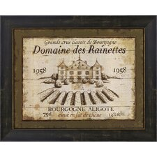 French Wine Labels III by Daphne Brissonnet Framed Vintage Advertisement