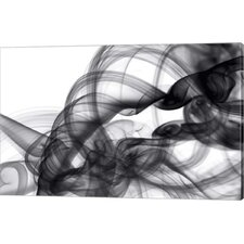 White Smoke Abstract by GI ArtLab Graphic Art on Canvas