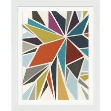 Pinwheel I by June Erica Vess Framed Graphic Art