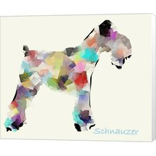 Schnauzer by Bri Buckley Graphic Art on Wrapped Canvas