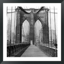 The Brooklyn Bridge, Sunday AM by The Chelsea Collection Framed Photographic Print