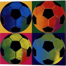 Ball Four Soccer Canvas Art