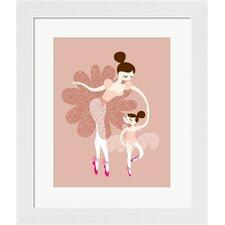 Ballerina Mother and Daughter Framed Art