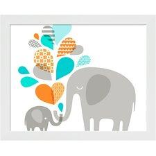 Elephant and Baby Framed Art