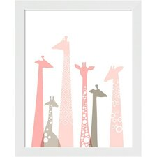 Giraffes Framed Art