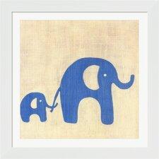 Best Friends Elephants Framed Art