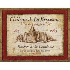 French Wine Labels I by Daphne Brissonnet Vintage Advertisement