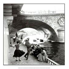 Rock n Roll sur les Quais de Paris by Paul Almasy Photographic Print
