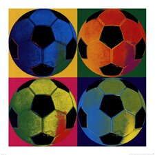 Ball Four Soccer Paper Print
