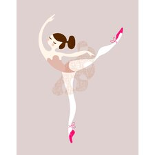 Ballerina Arabesque Paper Print