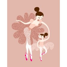 Ballerina Mother and Daughter Paper Print