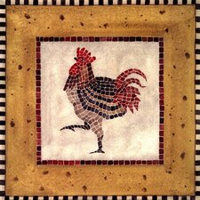 Mosaic Rooster No.1 by Katharine Gracey Graphic Art