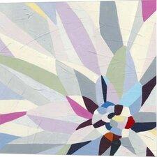 Geometric Dahlia II June Erica Vess Graphic Art on Wrapped Canvas