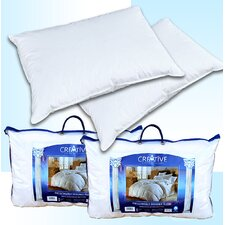 Creative Living Solutions 2 Feather and Down Bed Pillows (Set of 2)