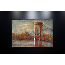 Metal Wall Art Sculpture Home Decor 'Brooklyn Bridge' Painting Print