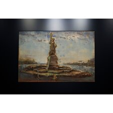 Metal Wall Art Sculpture Home Decor 'Statue of Liberty' Painting Print