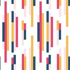 "Bars 33' x 20.5"" Stripes Wallpaper"