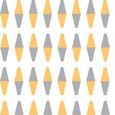 "Retrogeo 33' x 20.5"" Diamond Wallpaper"