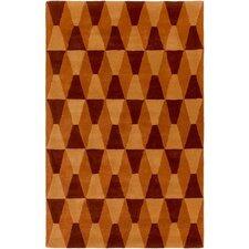 Mod Pop Burnt Orange/Rust Area Rug