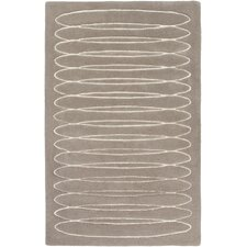 Solid Bold Taupe Area Rug