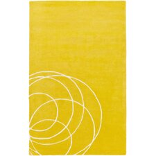 Solid Bold Gold Area Rug