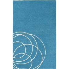 Solid Bold Teal Area Rug
