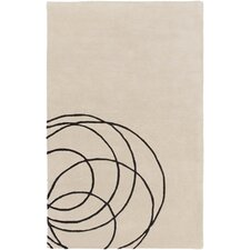 Solid Bold Beige Area Rug