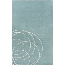 Solid Bold Blue Area Rug