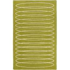 Solid Bold Moss Area Rug