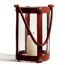 Marstrand Leather/Glass Lantern